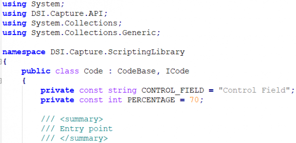 Percent Based Tagging Code Snippet